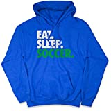 Soccer Standard Sweatshirt   Eat Sleep Soccer   Royal   Youth Large