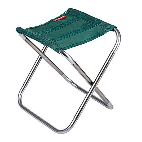 ZENGAI Tabouret Pouf Chaise Pliante en Aluminium Tabouret De Pêche Pédale Portable Les Loisirs Plier, 2 Couleurs (Couleur : Green)