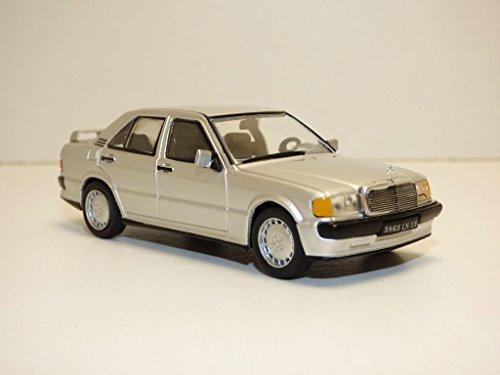 Solido 4302700 Mercedes-190E (W201) -1984 421436380-1:43 Mercedes-Benz 190E, Silber