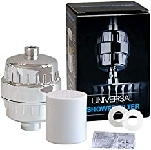 Zerotwo 6 Stage Shower Filter for Hard Water -Removes Chlorine ; Fluoride; Bacteria; Impurities; Bad Odour and Provide Good Skin for Bathroom ; Kitchen tap (Standard Size; Silver) ABS