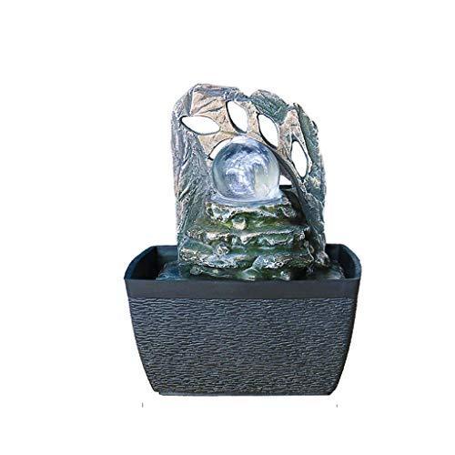 ZLBYB Esculturas Corriente de Agua Adornos, al Estilo Europeo Caja de almacenaje de la decoración del hogar Decoración de Escritorio Resina Adornos