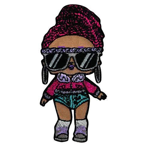 Parches - LOL Surprise Dolls Bling Queen - colorido - 7,8 x 3,8 cm - by MGA Entertainment, Inc© termoadhesivos bordados aplique para ropa