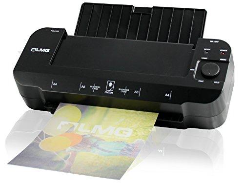 LMG   Premium Laminiergerät für Dokumente bis A4 - Schneller Laminator mit extrem kurzer Aufwärmzeit von 1-2 Minuten, Schnell und modern bis 2x 150 MIC - auch Kaltlaminieren