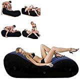 Inflatable S@e#x Cushion Half Moon Adult Aid Furniture Portable Support Pillow for Adult Deeper Position (L)