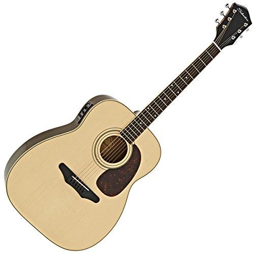 Silvertone 633E Elektro Akustikgitarre Natural