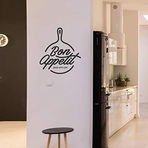 Apetito Etiqueta de la pared Mural Vinilo Tatuajes de pared Cocina Diseño de texto francés Art Deco