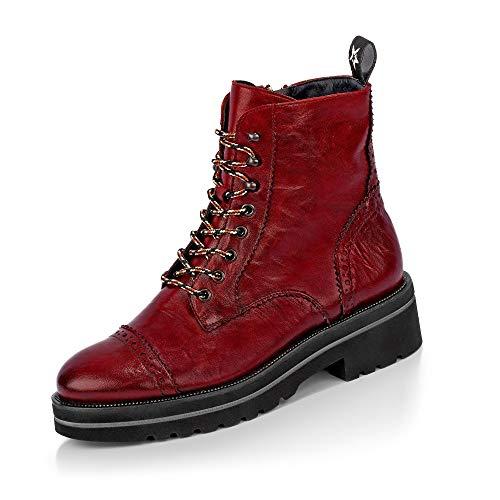 Paul Green 9668 015 Damen Sportiver Boots aus Glattleder Lederinnenausstattung, Groesse 38, rot