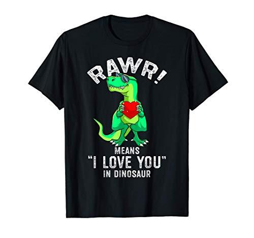 Rawr Significa Que Te Amo En Dinosaur Trex Valentín Camiseta