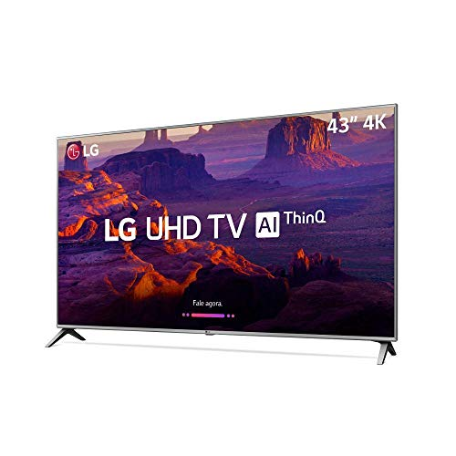 Smart TV 4K LED 43' HDR Ativo ThinQ IA IPS 4K Display DTS Virtual X, LG, 43UK6520PSA