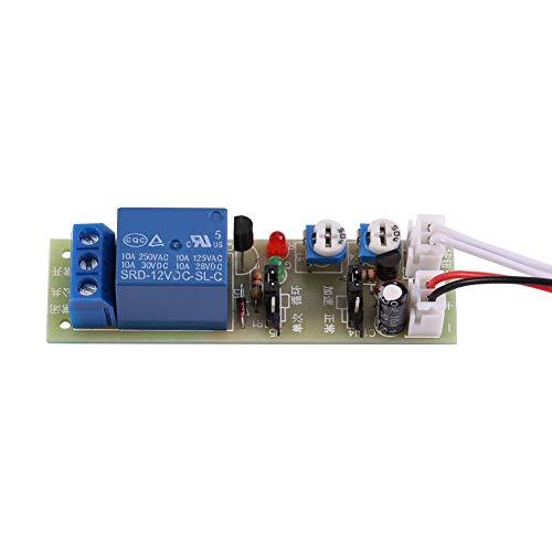 Yosoo Health Gear Módulo de Tiempo de retardo multifunción DC 12V Interruptor de Encendido/Apagado módulo de relé Interruptor de Control Temporizador de retardo de Ciclo de relé(DC 12V 0-15 min)