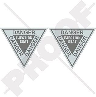 DANGER EJECTION SEAT LowVis USAF USMC Martin Baker 3,6