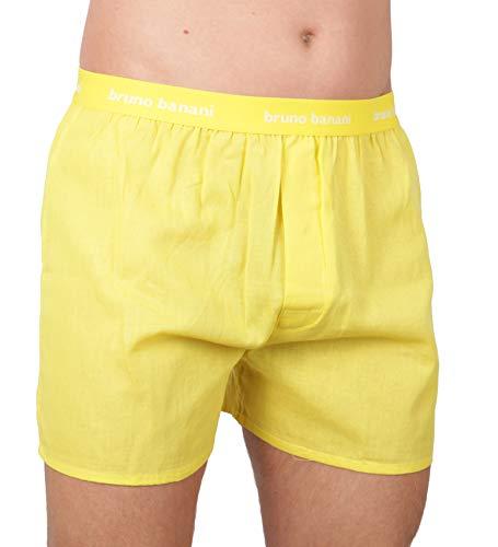 bruno banani Herren Boxershorts Unterhose Cotton (L, Gelb(188) mb)