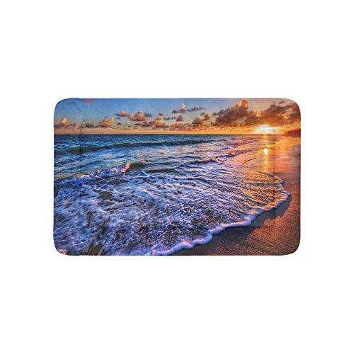 Hawaii Sunrise Paisaje Extra Grande Personalizado Ropa de Cama Impresa Suave Camas para Perros y Mascotas Sofá para Cachorros y Gatos Estera Colchoneta para cojín Cojín 36x23 Pulgadas