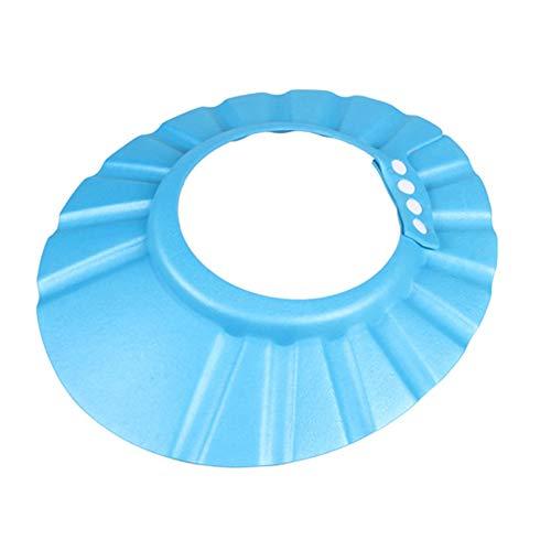 Gcroet Baby Shampoo baño Jug Cabezal de Ducha Cuna Gorra con Visera de protección de baño Cuna Tapa Sombrero champú para bebé niño (Azul)