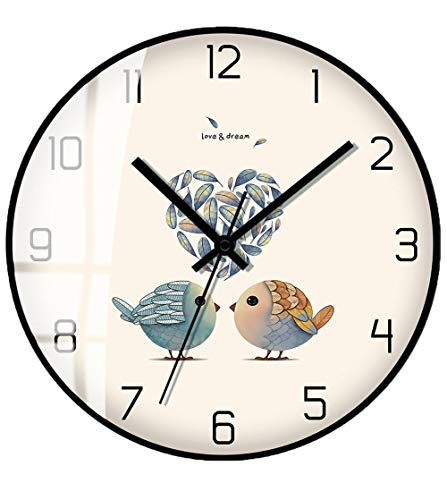 SHENHAI Reloj de Pared Ligero Reloj de Pared para el hogar Reloj de Pared Moderno Reloj Simple Relojes creativos Relojes de salón Modelos en U_10 Pulgadas