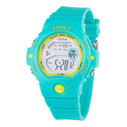 HHyyq Digitaluhren für Jungen Mädchen Uhren, wasserdichte Kinder Uhren Sportuhr mit Wecker Leuchtend, Kinderuhren Digitale Armbanduhren für Geburtstag Studenten Geschenk(C)