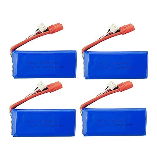 4PCS 7.4V 2500mAh 25C Batería Lipo para Syma X8C X8W X8G X8HC X8HG X8HW RC Drone