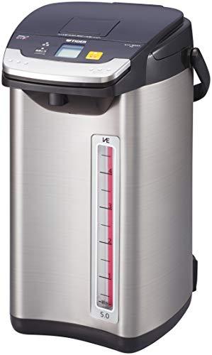 タイガー魔法瓶(TIGER) 電気ポット 蒸気レス 節電VE保温 とく子さん 5L ブラックPIE-A500-K