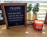 oqsyyxgs Arte de la pared cristiano/signos cristianos/C.S Lewis/arte de la pared del libro/carteles de madera enmarcados