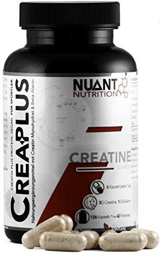 NUANT® – CREA PLUS | Ultra Kreatin Komplex mit Beta-Alanin (1 x 126 Kapseln)