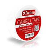 XFasten Super Strong Double Sided Carpet Tape Extra Sticky, 2-inch by 30-Yard, Heavy Duty Double Sides Area Rug to Carpet Gripper Tape, Ideal for Homes with High Foot Traffic and Large Pets