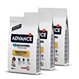 Advance Sensitive Medium/Maxi - Pienso para Perros Adultos De Razas Medianas y Grandes con Cordero - 3 Kg x 3