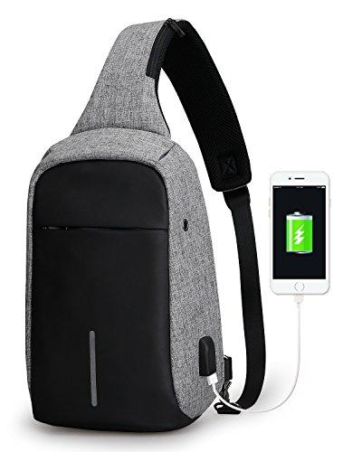 Interfaz USB externa: puedes cargar fácilmente sus moviles, tableta y otros dispositivos sin necesidad de abrir la mochila. Milti-Espacio: 3 bolsillos principales, uno pequeño con cremallera, bolsillo frontal antirrobo. Espacioso compartimento para o...