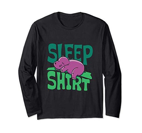 Hipopótamo Dormido - Dormir Manga Larga