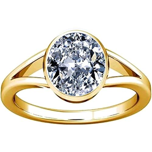 Divya Shakti 6.25-6.50 Carat American Diamond Round Zircon Gemstone Panchdhatu Ring for Men & Women