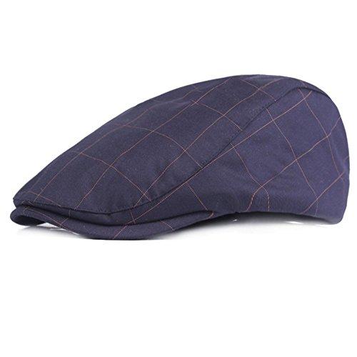 Leisial Retro Boinas Casual Sombreros de Primavera Verano Gorras Deportes Sombrero para el Sol de Hombre Mujer - 55-59cm, Ajustable