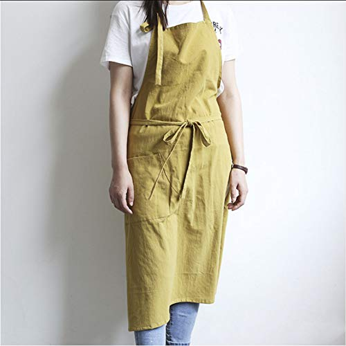 Cczxfcc 1 lange schort van katoen, vrije tijd, voor cooking house winkel painters, werkkleding, A