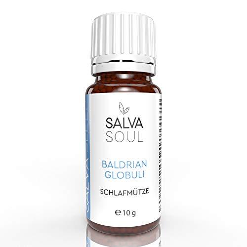 Baldrian-Globuli für Erwachsene | Schlafmütze von SALVASOUL | Hochdosiert in C30 mit Baldrian Informiert | Pflanzlich und gut Verträglich bei Nacht |