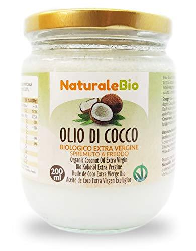 Biologische kokosolie extra vierge 200 ml. Rauw en koud geperst. 100% Organisch, natuurlijk en puur. Native Bio en ongeraffineerd. Land van Oorsprong: Sri Lanka. NaturaleBio