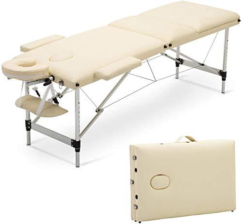 KEDUODUO Table De Massage, Trois Sections Pliable Beauté Aluminium Sofa, Utilisés en Thérapie...