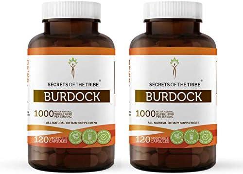 Burdock 120 Capsules 2 Popular standard pcs. Organic Arctium 1000 mg online shop