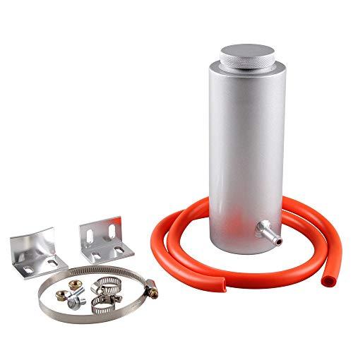 Auto Universal watertank 800ml Aluminium Koeling Pot Auxiliary Water Tank Car Modification accessoires QPLNTCQ (Color : Silver, Size : Free)