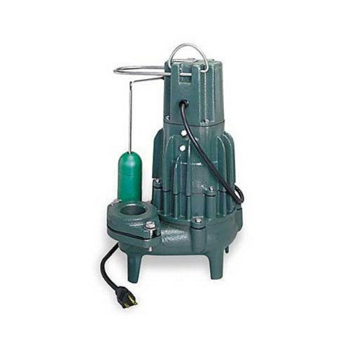 Zoeller 282-0002 115-Volt 1/2 Horse Power Model N282 Waste-Mate Non-Automatic Cast Iron Single Phase Submersible Sewage/Effluent Pump