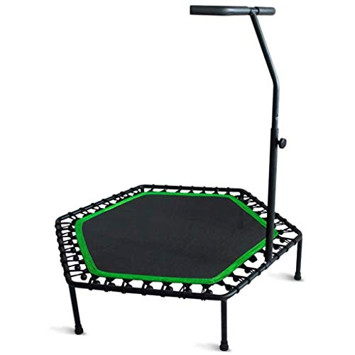 YDHWY Folding Mini 48-Zoll-Trampolin, Fitness Rebounder mit justierbarem Schaum Griff, Fitness-Trampolin for Kinder Erwachsene Indoor Garten Exercise