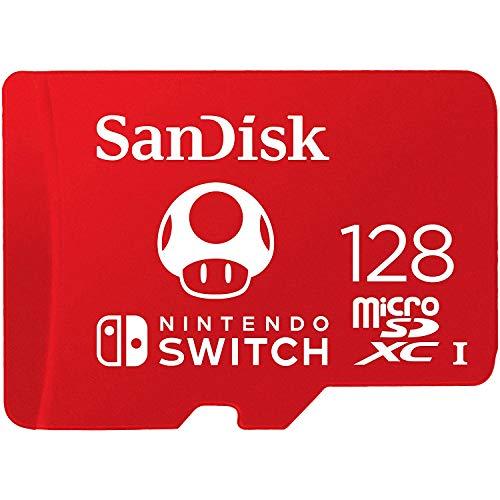 Cartão SanDisk 128GB microSDXC UHS-I para Nintendo Switch – SDSQXBO-128G-AWCZA