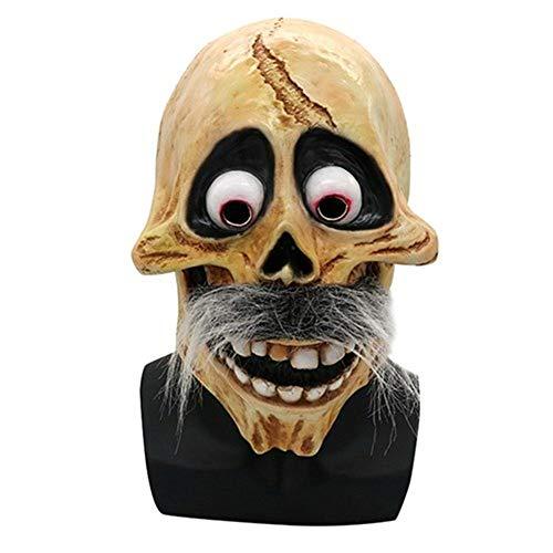 LIZHIOO Divertido cráneo Héctor Rivera Cosplay máscara película Coco Migul Abuelo látex Fiesta máscaras Disfraces Accesorios for Adultos ( Color : 2 )