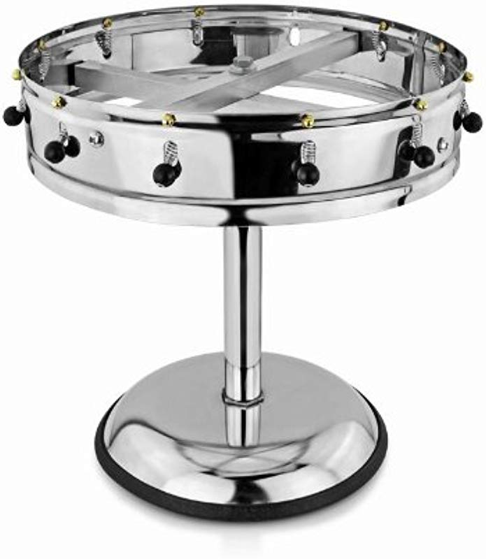 New Star Stainless Steel Order Wheel Ticket Holder 12 Clips 14 Inch Dia With 10 Inch Chrome Heavy Base 1 Piece