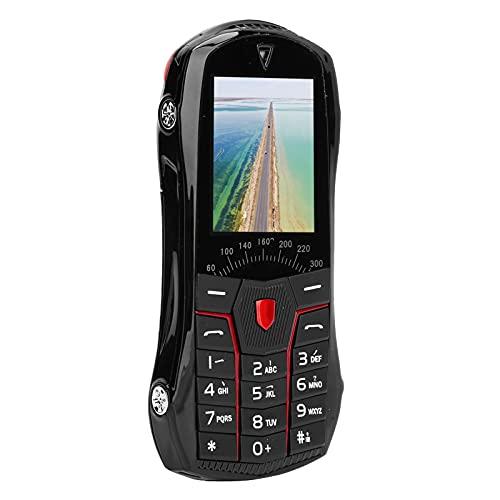 Lazmin112 Teléfono móvil para niños, Forma de Coche Teléfono móvil Mini teléfono Plegable Tarjeta Dual Doble Modo de Espera Teléfono móvil para niños 32 MB + 32 MB Teléfono de Respaldo Mejor(Negro)