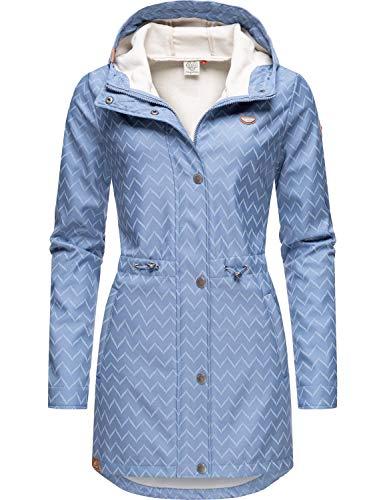 Ragwear Damen Übergangsjacke Kurz Mantel Halina Long Lavender Zig Zag Gr. XS