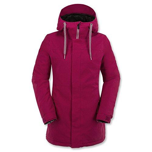 Volcom Damen Snowboardjacke Act INS Jacket, Maroon, M