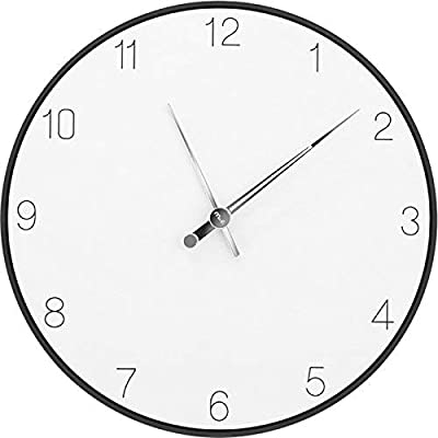 KIN Wall Clock Silent Movement Wall Clock Home Office Decor for Living Room Bedroom and Kitchen