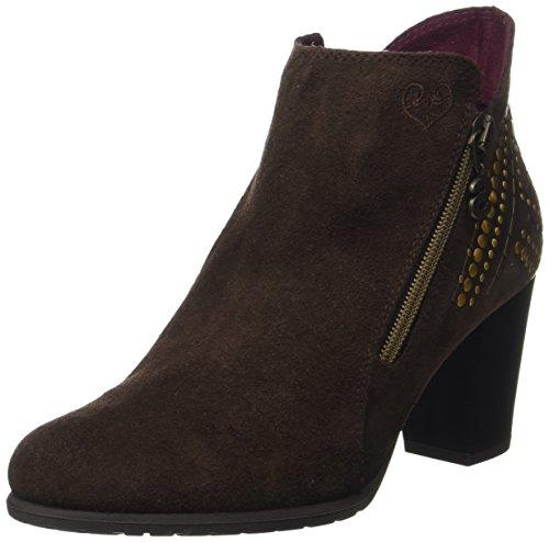 Desigual Damen Shoes_Frida Studs Chelsea Boots, Braun (Chestnut), 39 EU