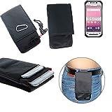 K-S-Trade® Gürtel Tasche Panasonic Toughbook FZ-N1 Brusttasche Brustbeutel Schutz Hülle Smartphone Case Handy Schwarz Travel Bag Travel-Case Vertikal
