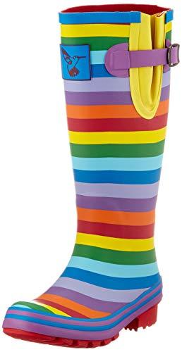 Evercreatures Damen Rainbow Gummistiefel, Regenbogenfarben, 39 EU