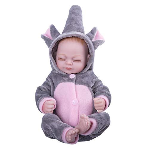 Cgration 25,4 cm de aspecto realista, juguete de silicona para el cuidado del recién nacido para niños y ancianos regalo de Navidad