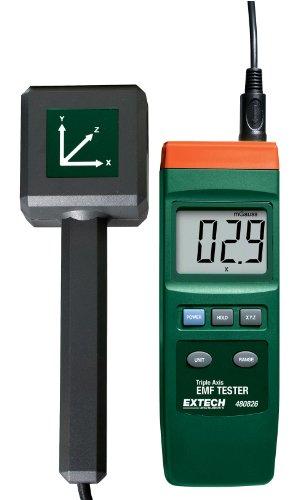 Extech EMF Messgerät zur Messung dreiachsiger elektromagnetischer Felder, 1 Stück, 480826